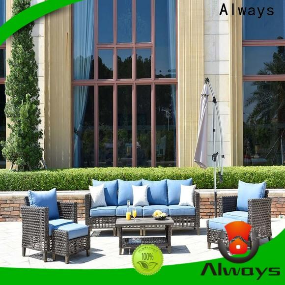 Always fashionable outdoor wicker sofa manufacturer for terraces