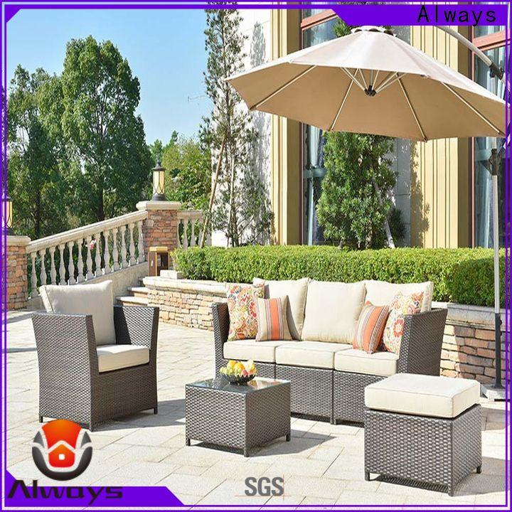 Always customized wholesale patio furniture manufacturer for porch