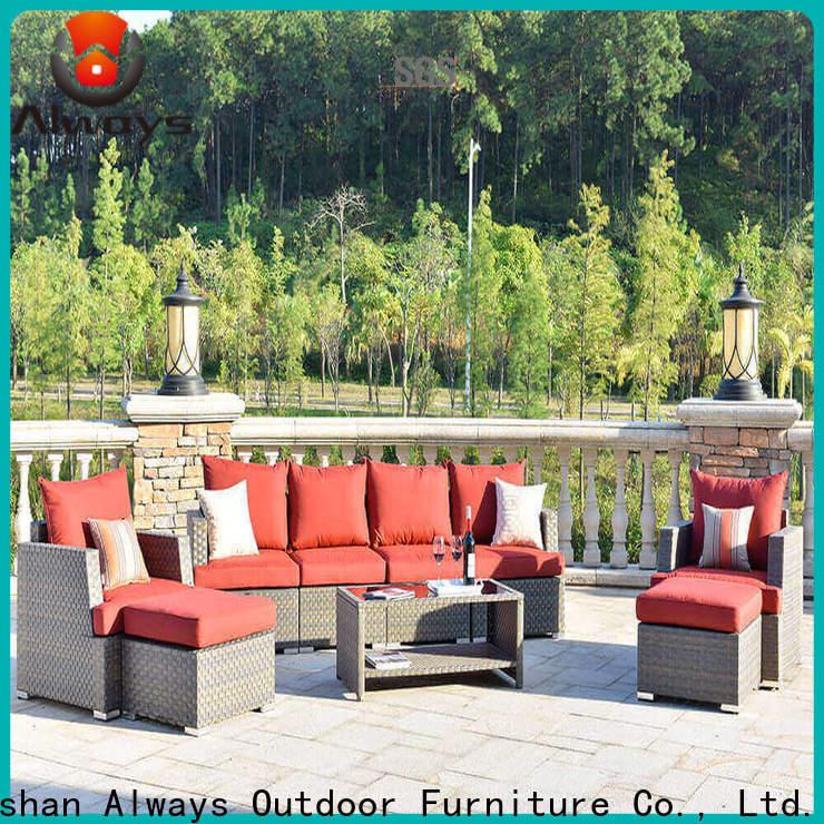 weatherproof wicker patio sofa material set for gardens