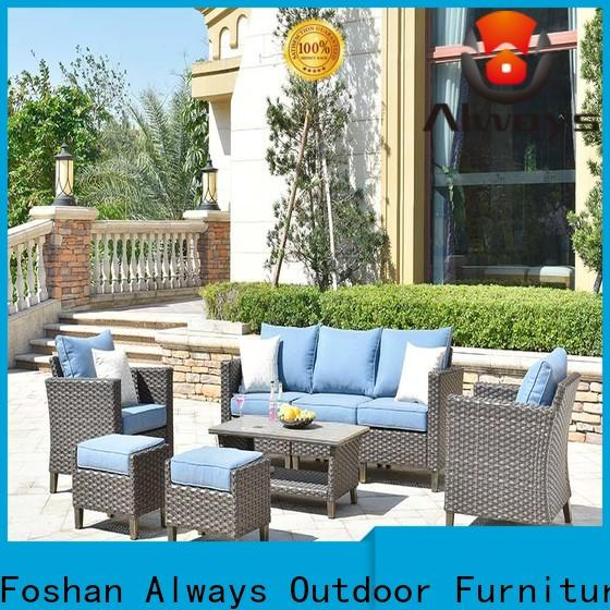Always weatherproof outdoor wicker patio furniture factory price for porch