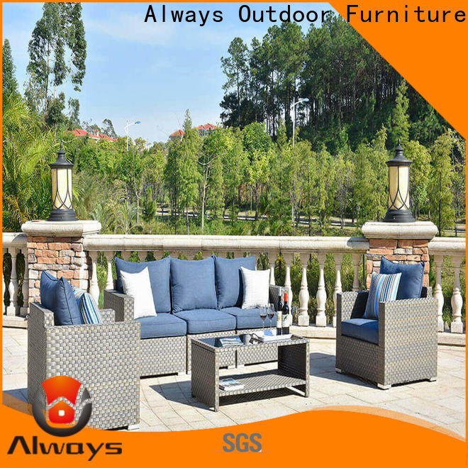 Always munlti-function all weather wicker sofa couch for gardens
