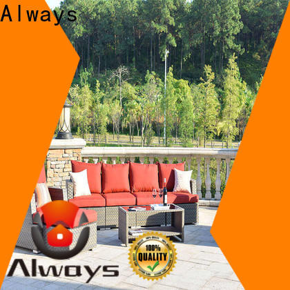 Always piece all weather wicker sofa environmentally friendly for gardens