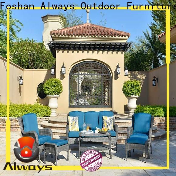 Always customized dining patio furniture promotion for terraces