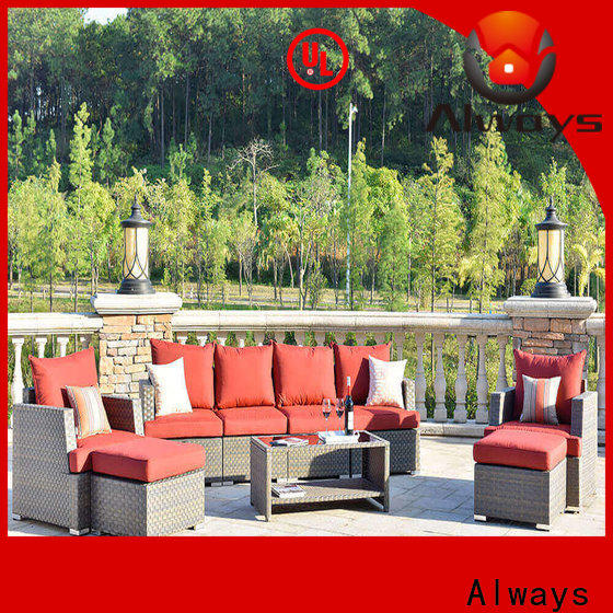 comfortable commercial outdoor furniture wholesale patio couch for swimming pools for outdoor leisure for places