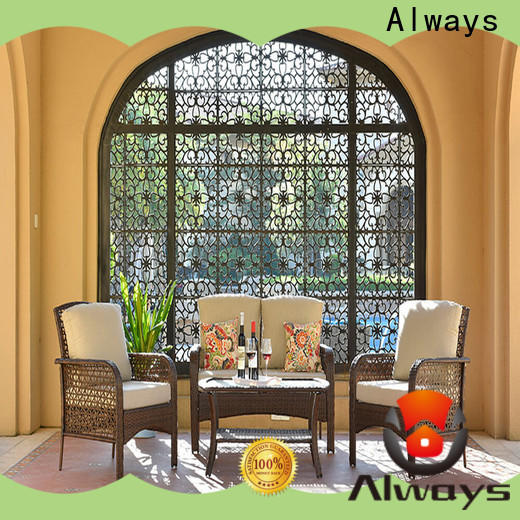 Always garden wicker style patio furniture factory price for terraces