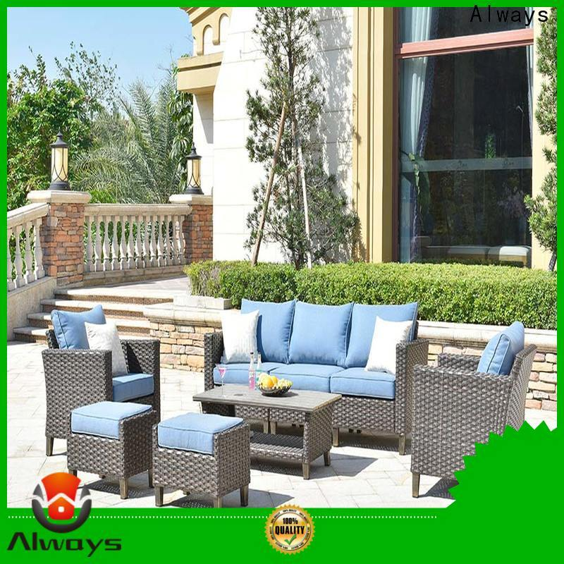Always sofa commercial outdoor furniture wholesale factory price for swimming pools for outdoor leisure for places