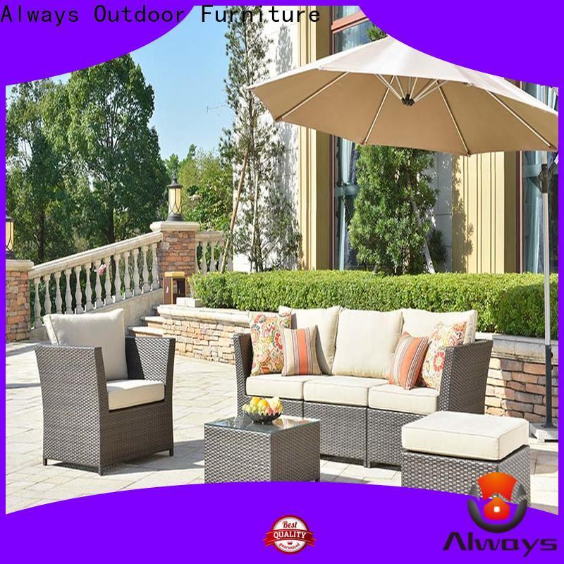 Always highgrade wicker outdoor sofa set for sale for gardens
