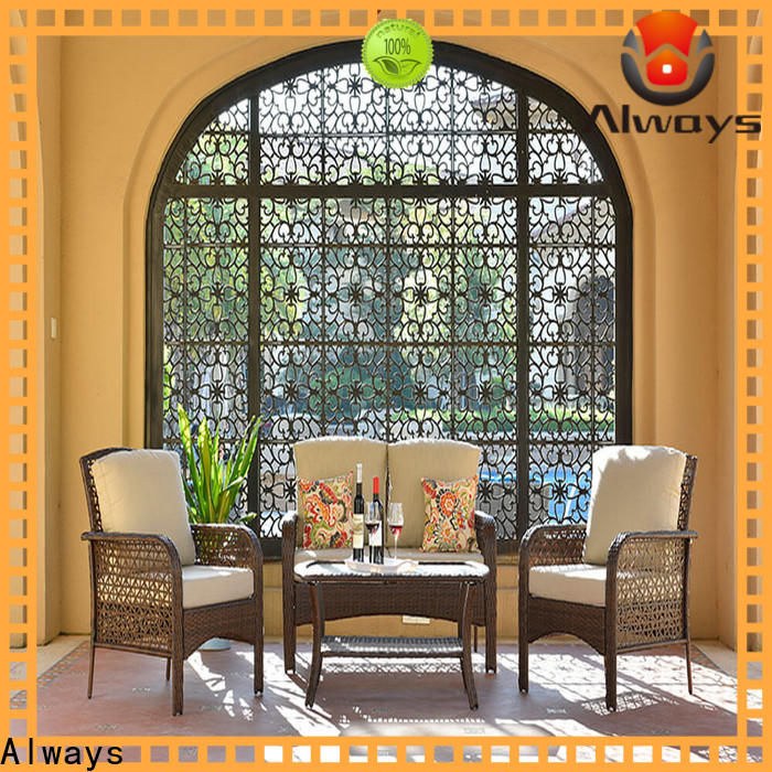 Always exquisite all weather wicker sofa promotion for terraces