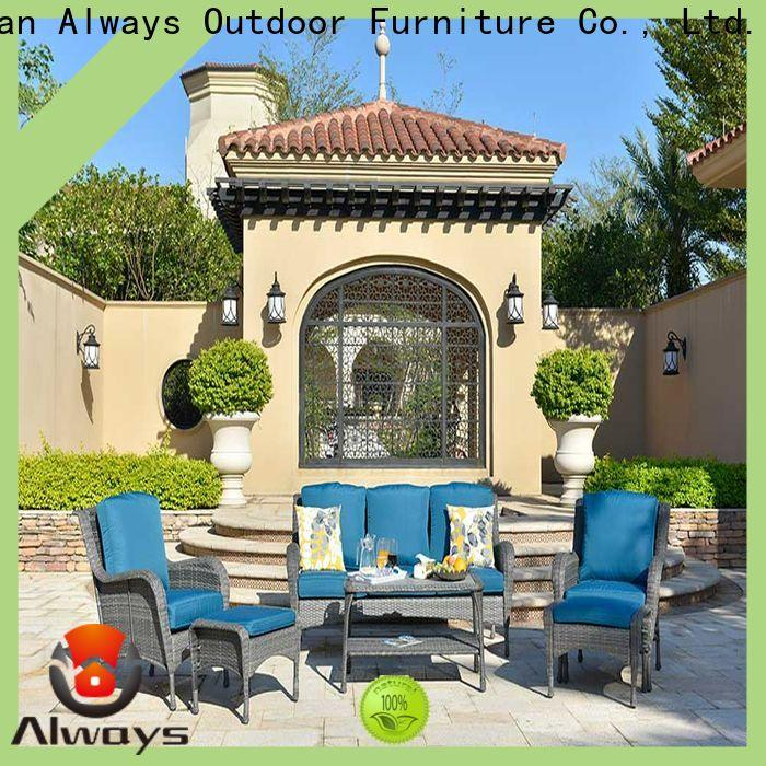 Always customized outdoor wicker patio furniture environmentally friendly for terraces