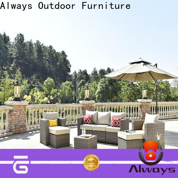 wicker outdoor sofa set piece promotion for gardens