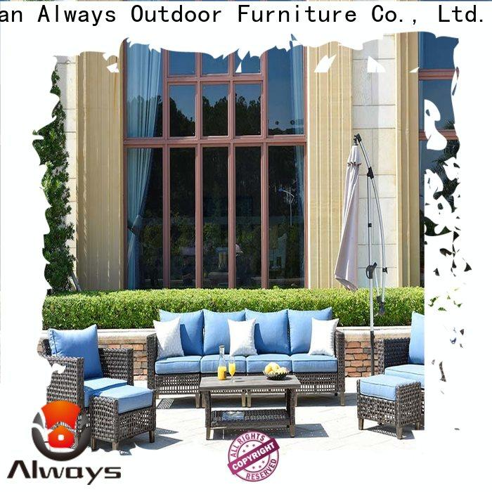 Always elegance wicker patio sofa manufacturer for terraces