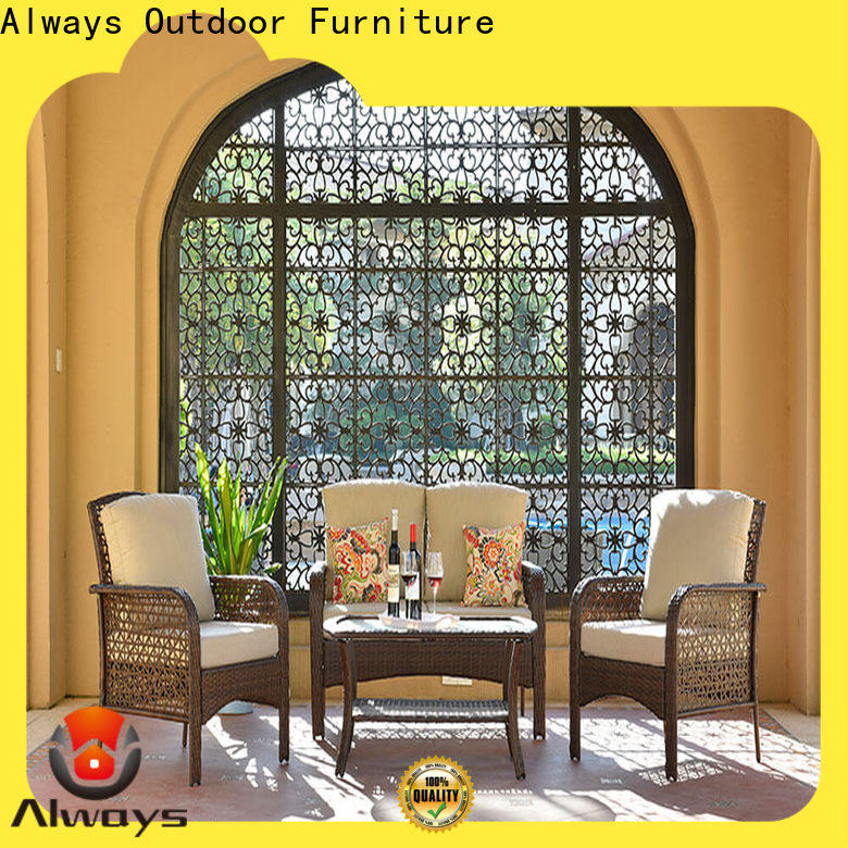 Always sectional patio furniture couch for swimming pools for outdoor leisure for places