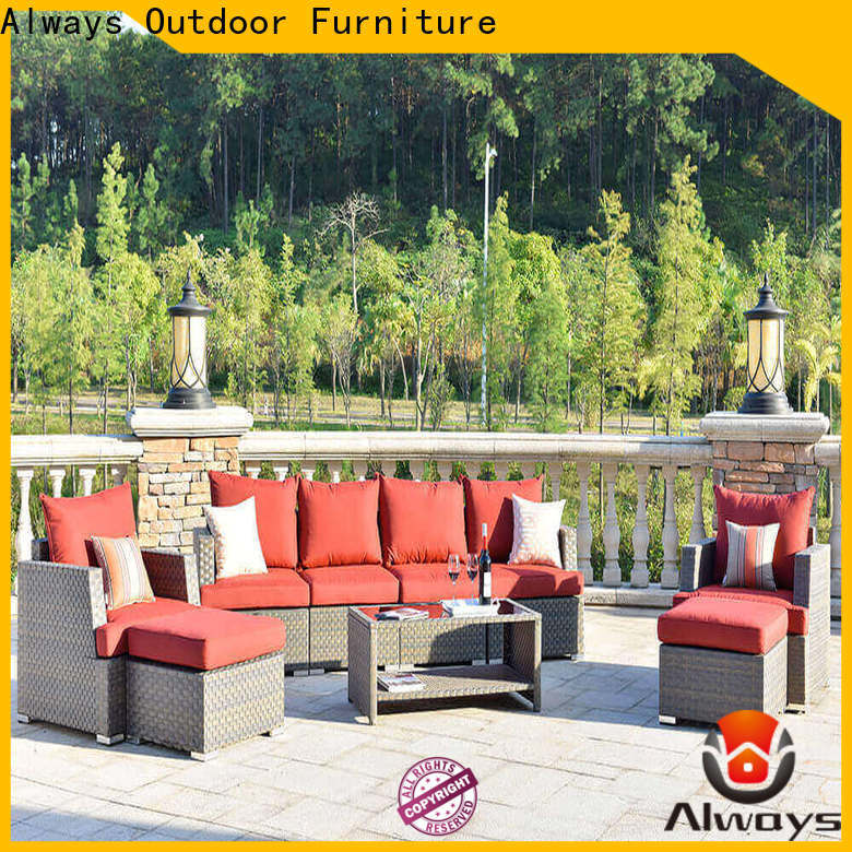 Always munlti-function sectional patio furniture environmentally friendly for terraces