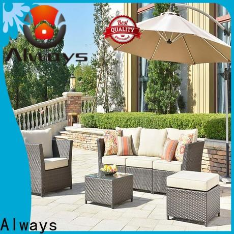 Always resin wholesale patio furniture for sale for porch