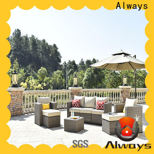 Always utility resin wicker patio furniture set for gardens