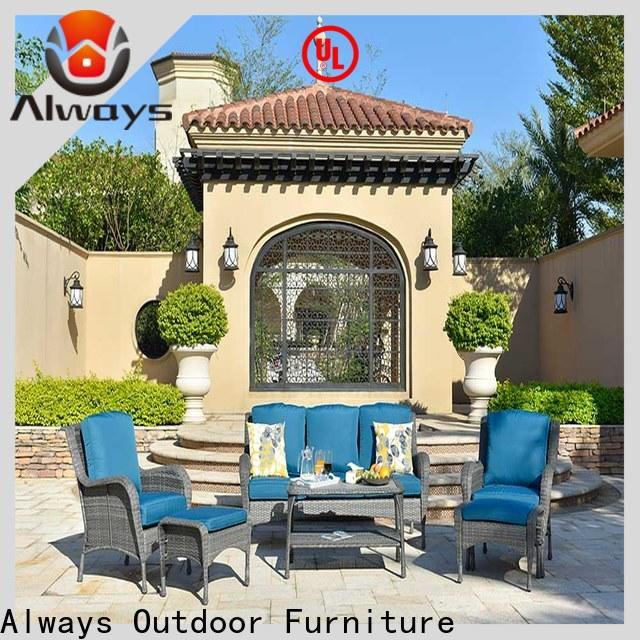 customized wicker outdoor sofa set famamir manufacturer for swimming pools for outdoor leisure for places