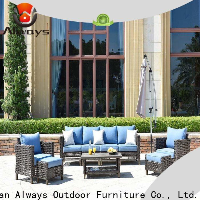 Always wicker patio sofa factory price for gardens