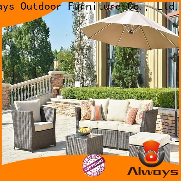 Always fashionable poolside furniture factory price for terraces