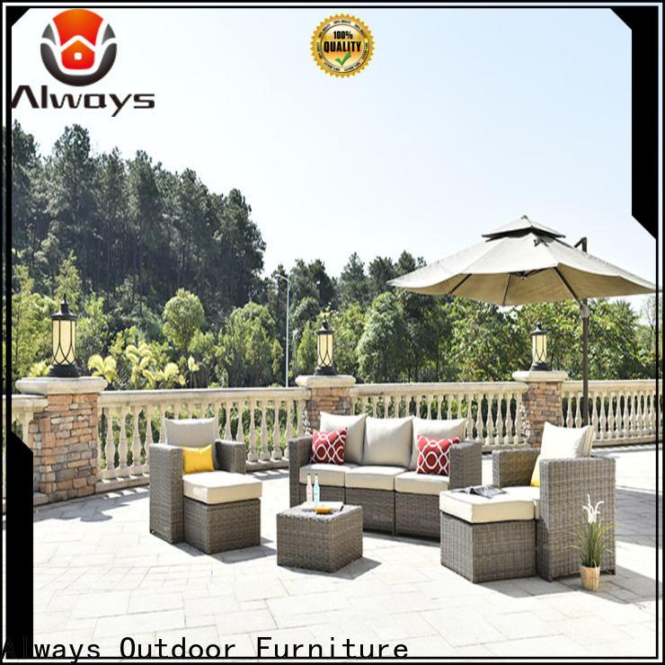 Always patio poolside furniture set for gardens