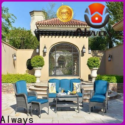 Always www resin wicker patio furniture set for porch
