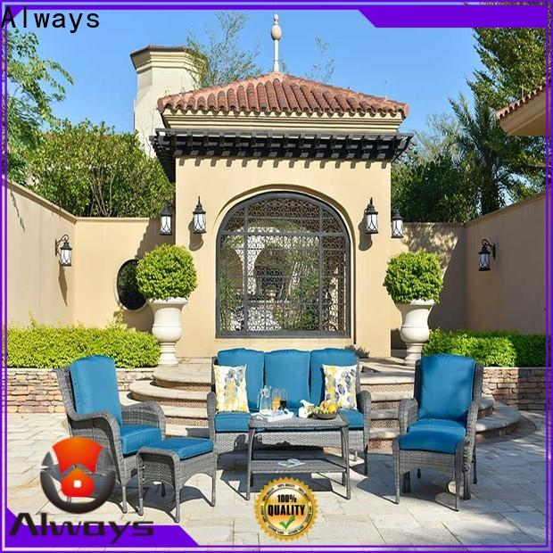 weatherproof wicker style patio furniture aluminum environmentally friendly for gardens
