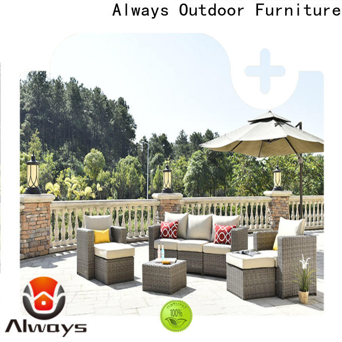 Always seating outside patio furniture couch for terraces