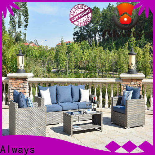 Always exquisite wicker outdoor furniture factory price for porch