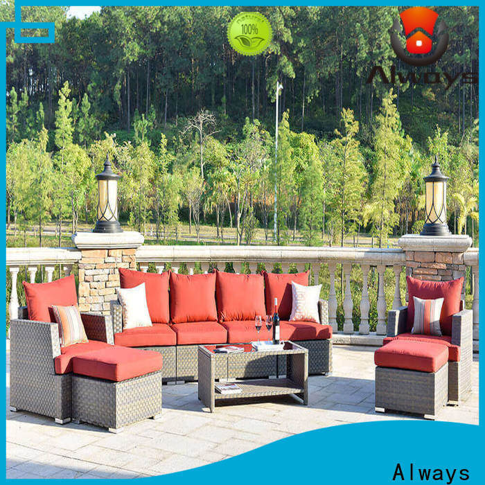 Always customized wicker outdoor sofa set for sale for terraces