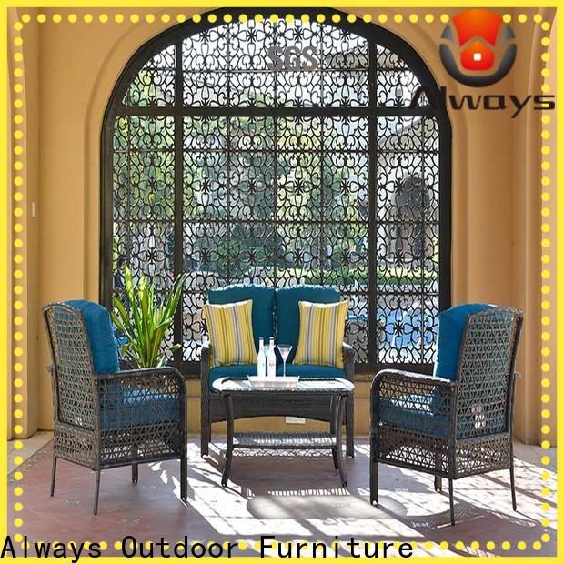 Always oem wicker patio sofa from China for gardens