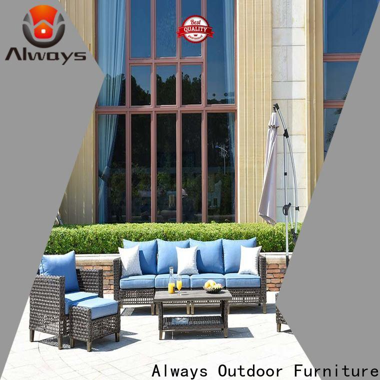 Always fashionable wicker outdoor sofa set promotion for gardens