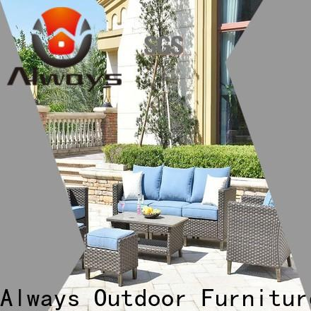 Always cane resin patio furniture for sale for terraces
