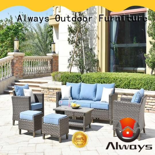 fashionable wicker patio sofa frame manufacturer for gardens