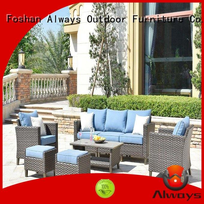 Always seating outside patio furniture from China for terraces