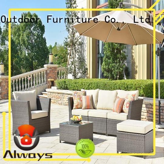 Always weatherproof wicker patio sofa manufacturer for gardens