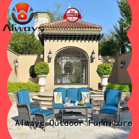 Always utility wicker outdoor furniture for gardens