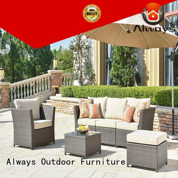 Always material resin patio furniture from China for terraces