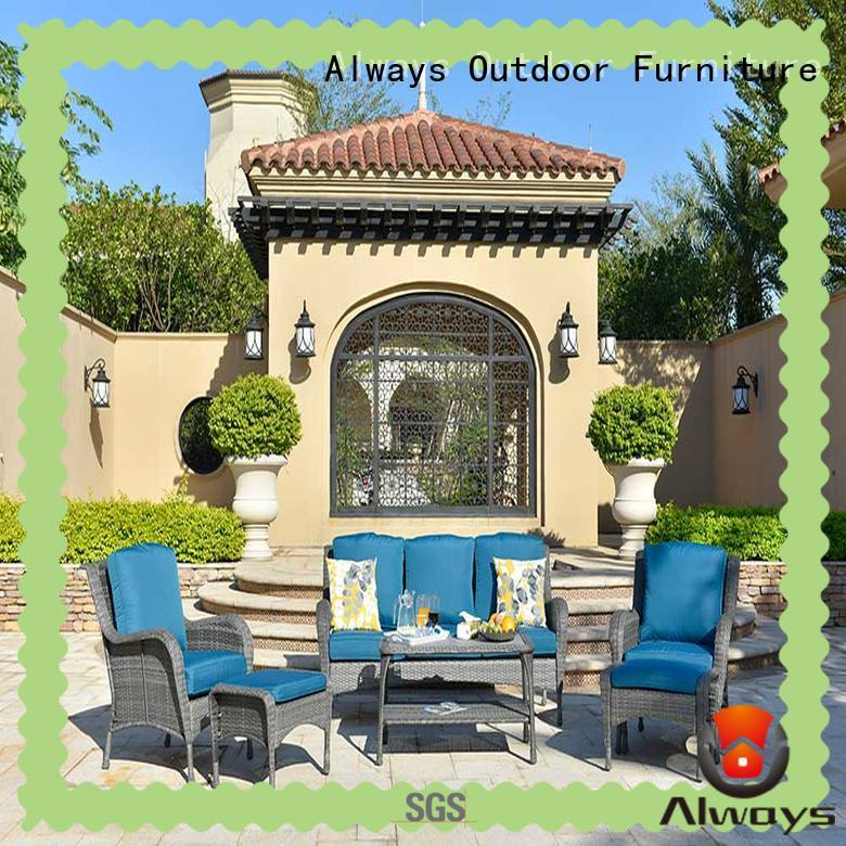 Always comfort wicker outdoor sofa set manufacturer for gardens