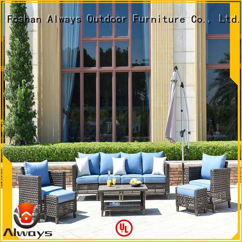 Always weatherproof wicker patio sofa environmentally friendly for gardens