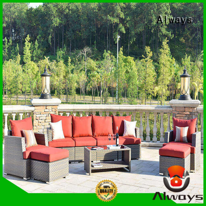 Always khaki outdoor wicker patio furniture for porch