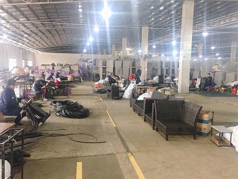 Wicker Patio Sofa Set Automatic production plant A