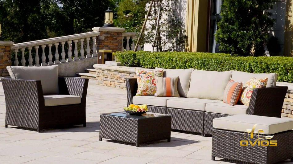 Oem & Odm Garden Furniture Sofa Set VIDEO
