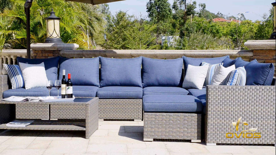 Custom Pe Resin Wicker Furniture VIDEO