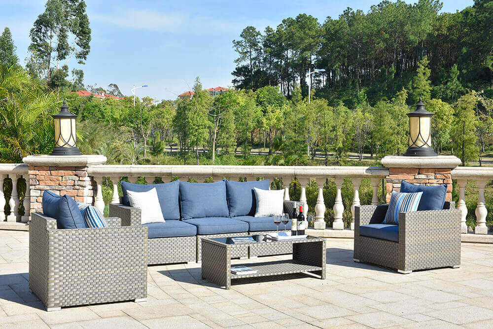 Wholesale Wicker Outdoor Sofa Set Elegance 5 Piece Famamir