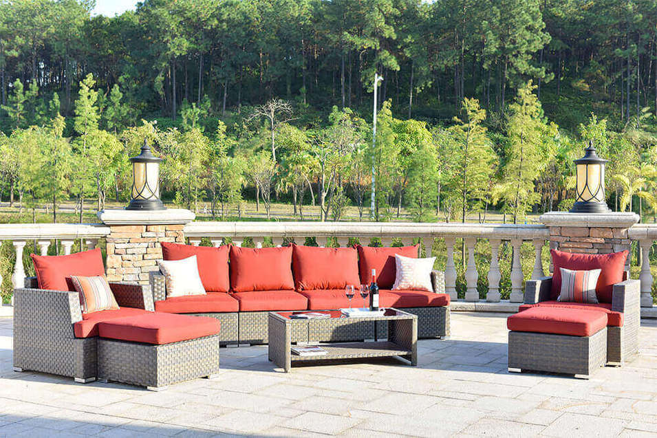 Custom Wicker Style Patio Furniture Upgraded Comfort  Seating Ethereal