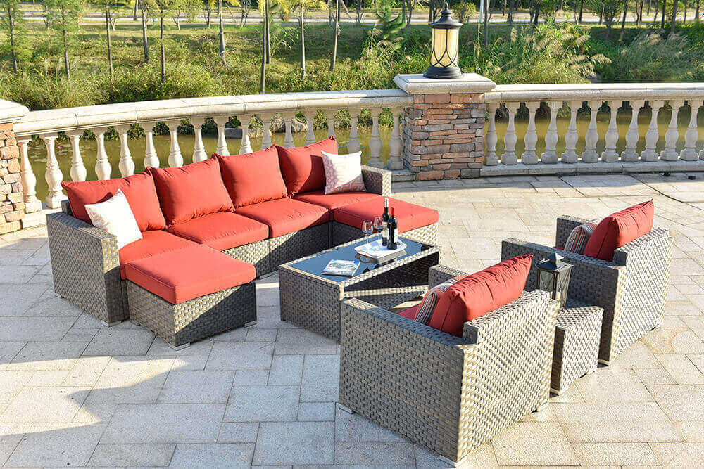 Always comfortable wicker outdoor furniture factory price for terraces-1