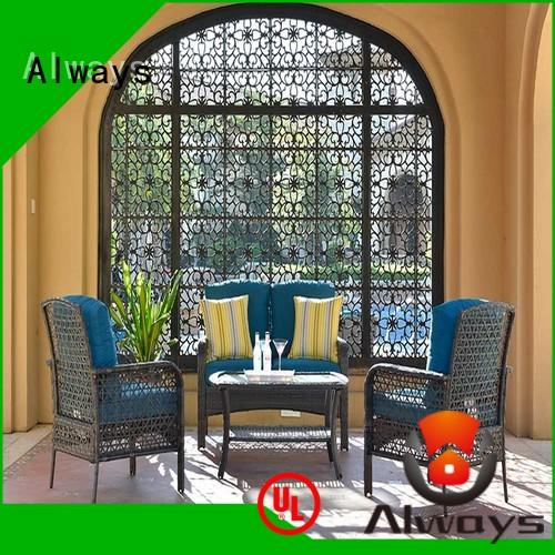 Always coffee wicker style patio furniture factory price for gardens