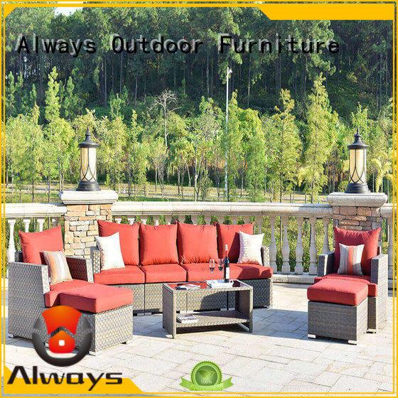 aluminum outdoor wicker sofa for porch