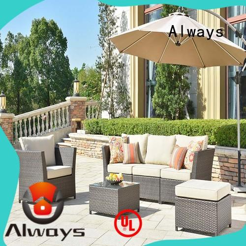 Always comfortable wicker outdoor furniture factory price for terraces