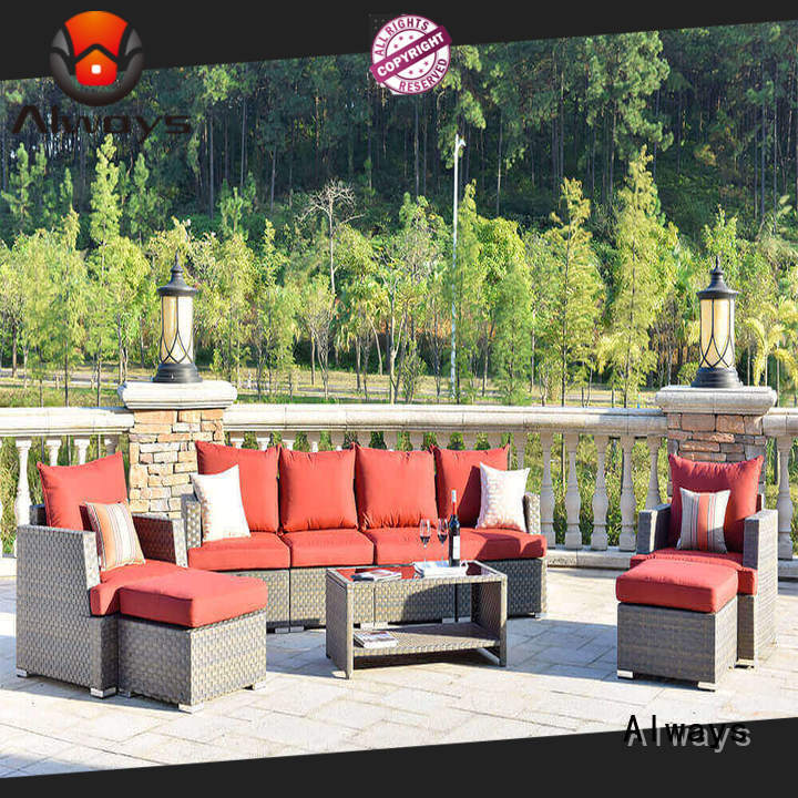 Always durable wicker pool furniture kenard for gardens