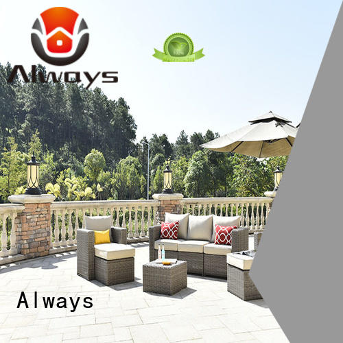Always exquisite all weather wicker sofa set for porch